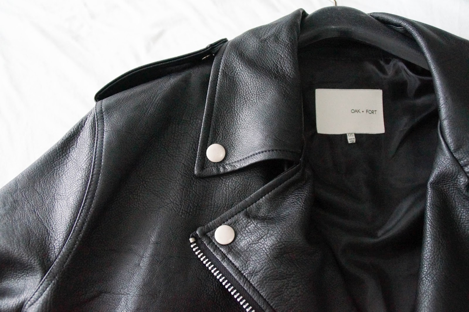 OAK&FORT LEATHER JACKET