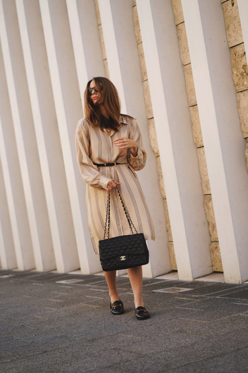 THE BEIGE SHIRTDRESS